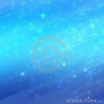 Winter bokeh background