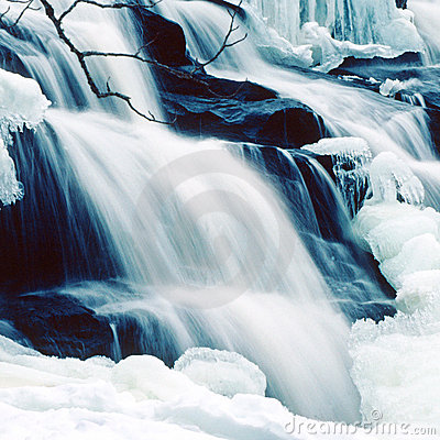 Free Winter Bond Falls Square Stock Images - 4802244