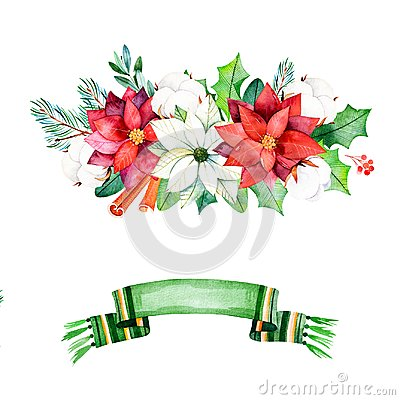 Free Winter Bouquets With Leaves,branches,cotton Flowers,berries Royalty Free Stock Photography - 103503707