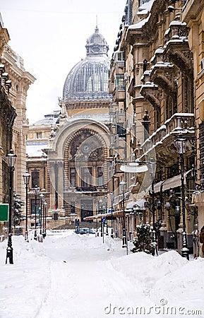 Winter in Bucharest - Historic center