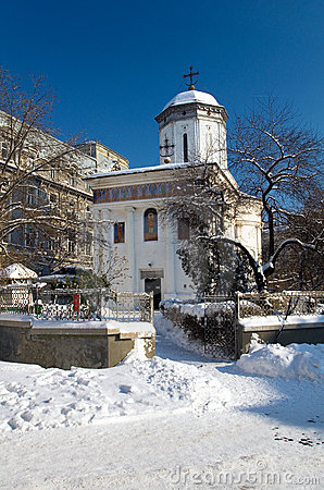 Winter in Bucharest - Saint Dumitru Church