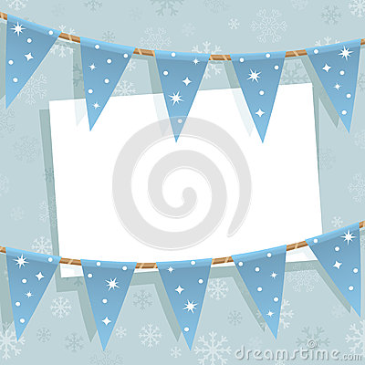Winter bunting decoration