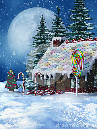 Winter candy house