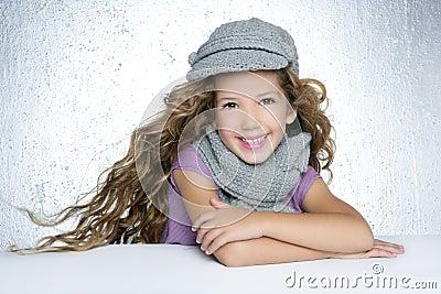 Winter cap little fashion girl wind on hair