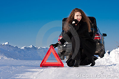 Winter car breakdown
