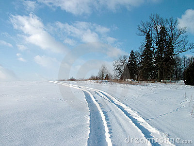 Winter car drive