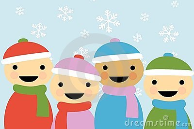 Winter Cartoon Children 2