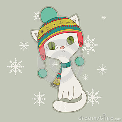 Winter cat