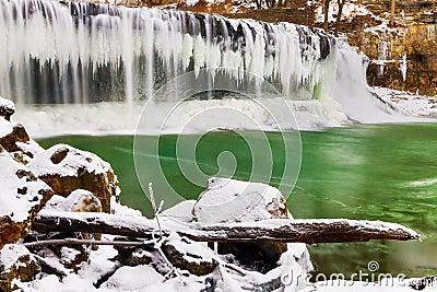 Winter at Cataract Falls