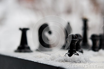 Winter chess pieces pawn