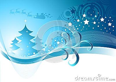 Winter Christmas Abstract