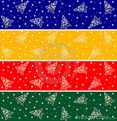 Winter Christmas banners