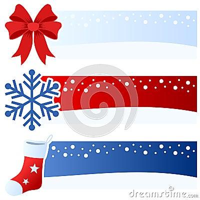 Winter or Christmas Horizontal Banners