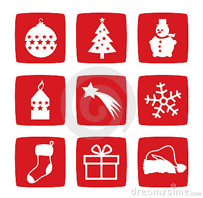Winter and Christmas icons
