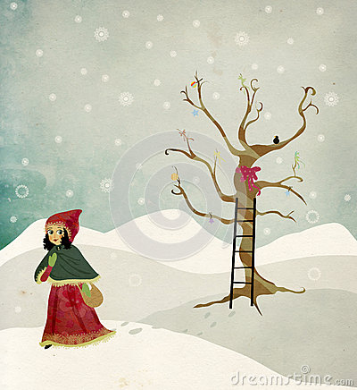 Winter and Christmas Illustration