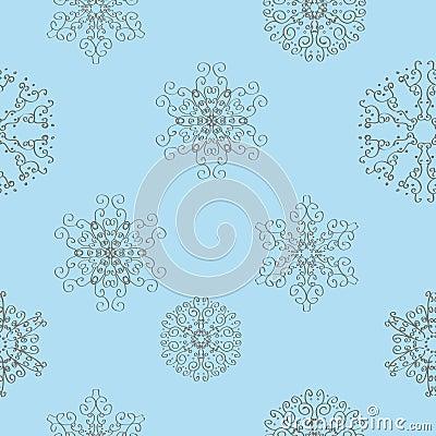 Winter christmas new year seamless pattern