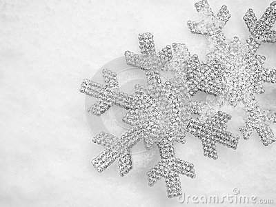 Winter Christmas Snow Flake Background