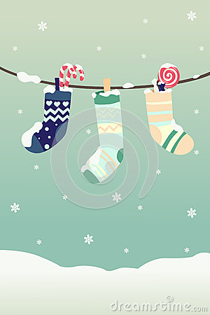 Winter Christmas stockings