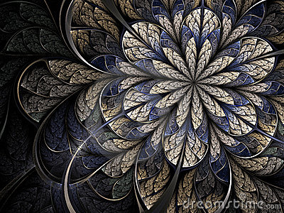 Winter cold fractal flower