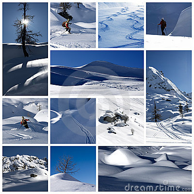 Free Winter Collage Stock Photography - 9074552