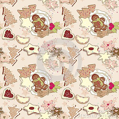 Winter cookies pattern
