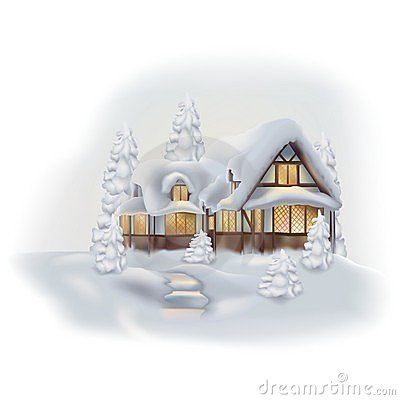 Free Winter Cottage Stock Image - 1760361