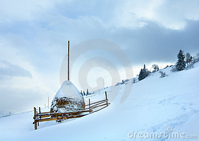 Winter country mountain landscape