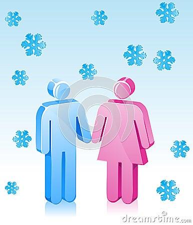Winter Couple Romance