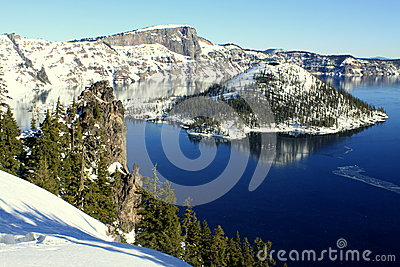 Winter at Crater Lake National Park