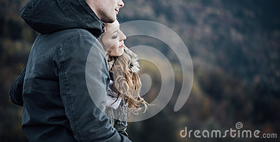 Winter dating Stock Photo
