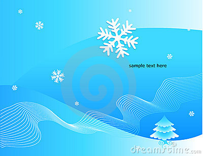 Winter decorative illustration