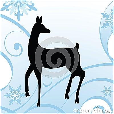 Winter Deer - Holiday Theme