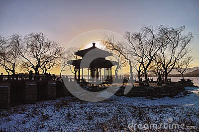 The winter dusk in Summer Palace