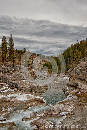 Winter at Elbow Falls