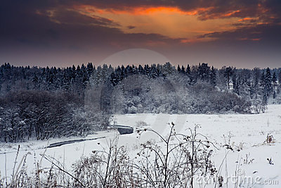Winter evening