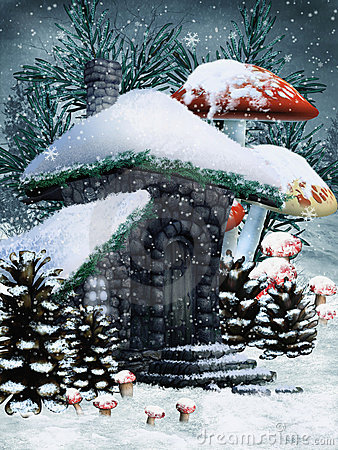 Winter fairy cottage