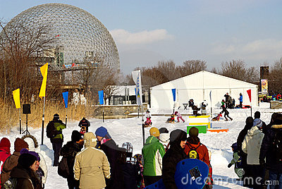 winter family fun Editorial Photography