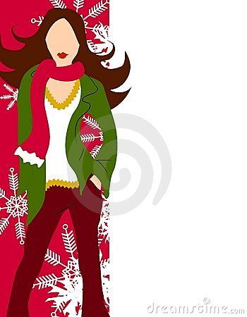 Winter Fashion Model Border