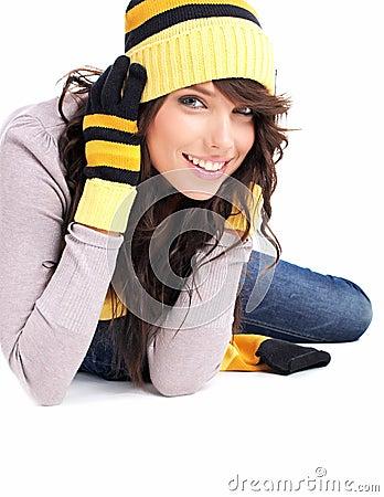 Free Winter Fashion Portrait Of Woman Stock Photo - 7611120