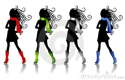Winter Fashion Silhouettes 3