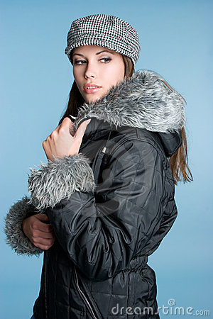 Free Winter Fashion Woman Stock Photography - 7112652
