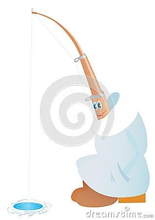 Winter fishing rod