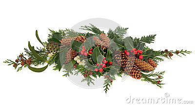 Winter Flora Decorative Spray