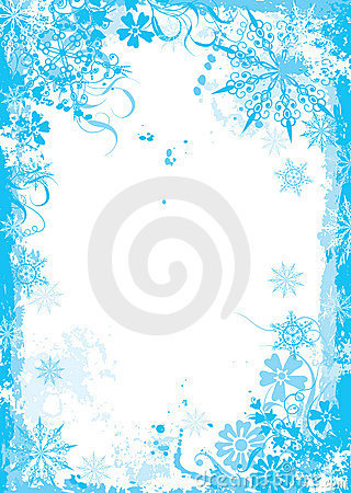 Free Winter Floral Frame, Vector Royalty Free Stock Images - 3249639