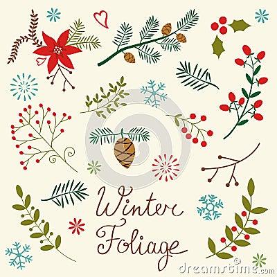Free Winter Foliage Royalty Free Stock Image - 36109016