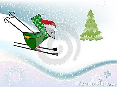 Winter fun Mouse sking