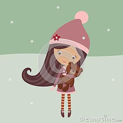 Free Winter Girl Royalty Free Stock Photo - 31724725