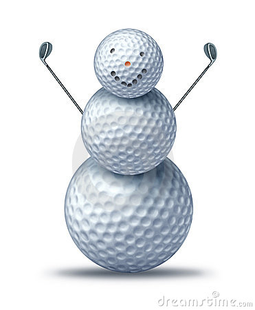 Winter golfing