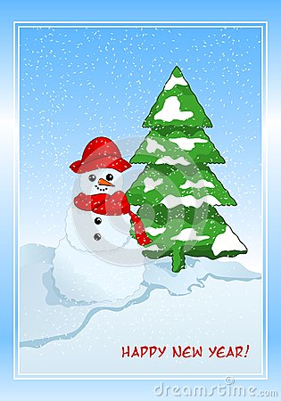 Winter greeting cad