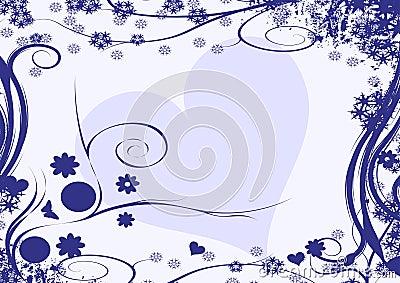 Winter heart design